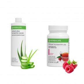 Aloe Konsantre İçecek & Bitkisel Ahududulu 50g Çay